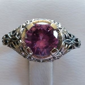 Jewelry - 3ct Alexandrite Filagree Ring Size 7.25